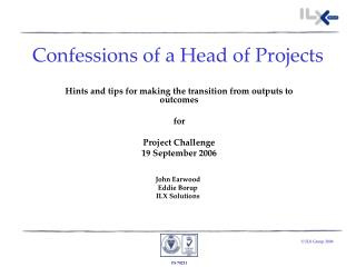 Confessions of a Head of Projects
