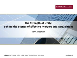 The Strength of Unity:  Behind the Scenes of Effective Mergers and Acquisitions