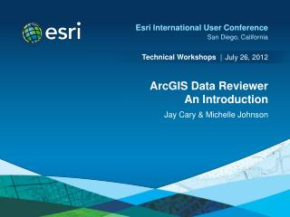 ArcGIS Data Reviewer An Introduction