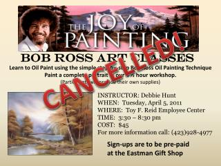 Bob Ross Art Classes