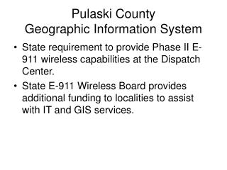 Pulaski County Geographic Information System