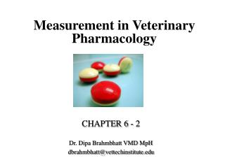 Measurement in Veterinary Pharmacology