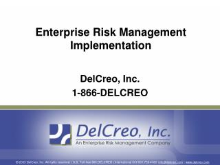 Enterprise Risk Management Implementation