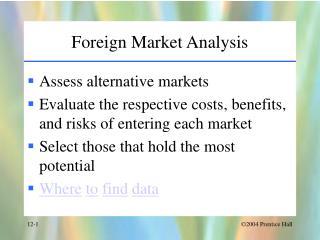risks of entering a foreign market