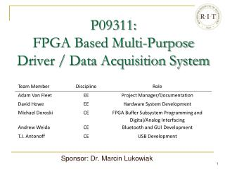 P09311:  FPGA Based Multi-Purpose  Driver / Data Acquisition System
