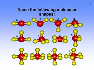 Name the following molecular shapes: