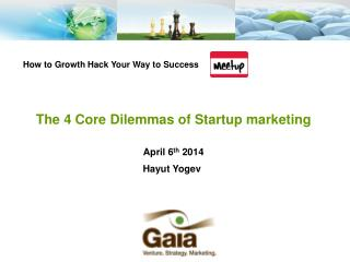 The 4 Core Dilemmas of Startup marketing