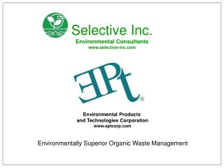 Environmental Products  and Technologies Corporation eptcorp