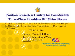 Position Sensorless Control for Four-Switch Three-Phase Brushless DC Motor Drives