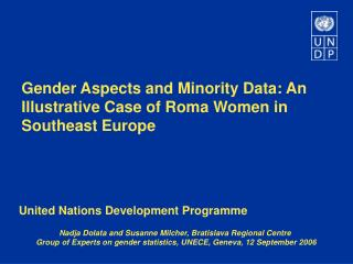 Gender Aspects and Minority Data: An Illustrative Case of Roma Women in Southeast Europe