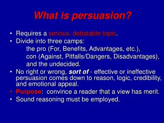 What is persuasion