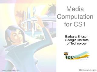 Media Computation for CS1