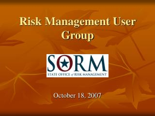 Risk Management User Group