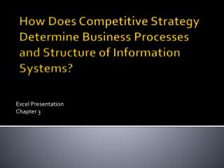 How Does Competitive Strategy Determine Business Processes and Structure of Information Systems?