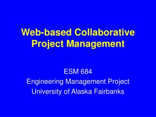 Web-based Collaborative Project Management