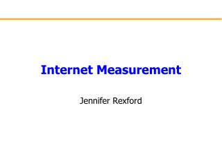 Internet Measurement