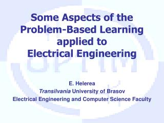 Some Aspects of the  Problem-Based Learning applied to  Electrical Engineering