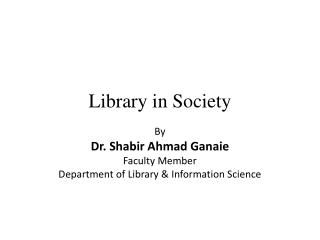 Library in Society