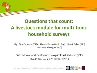 Questions that count: A livestock module for multi-topic household surveys