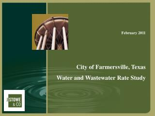 City of Farmersville, Texas Water and Wastewater Rate Study