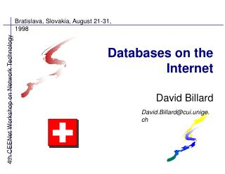 Databases on the Internet