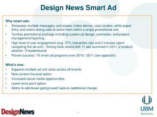 Design News Smart Ad