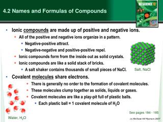 4.2  Names and Formulas of Compounds
