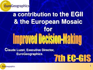 a contribution to  the EGII & the European Mosaic for