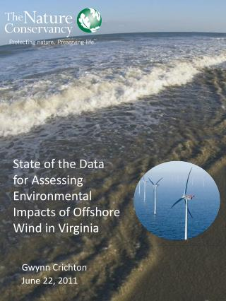 State of the Data  for Assessing Environmental Impacts of Offshore Wind in Virginia