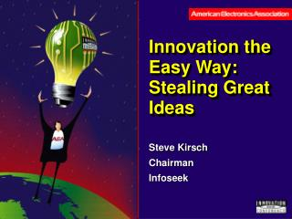 Innovation the Easy Way: Stealing Great Ideas