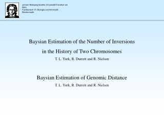 Baysian Estimation of the Number of Inversions  in the History of Two Chromosomes