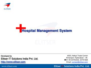 Developed by Elitser IT Solutions India Pvt. Ltd. http://www.elitser.com