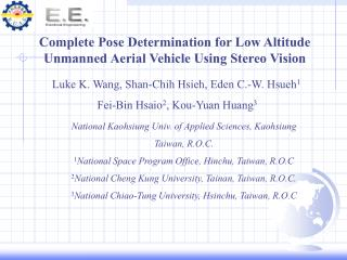 Complete Pose Determination for Low Altitude Unmanned Aerial Vehicle Using Stereo Vision