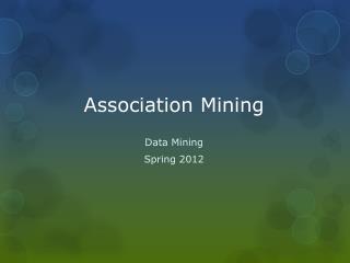 Association Mining