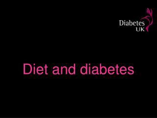 Diet and diabetes