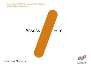 e-Assessment: The India context and employers and employee expectations