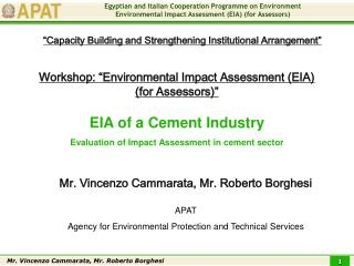 EIA of a Cement Industry Evaluation of Impact Assessment in cement sector