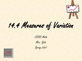 14.4 Measures of Variation
