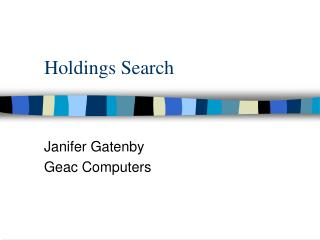 Holdings Search