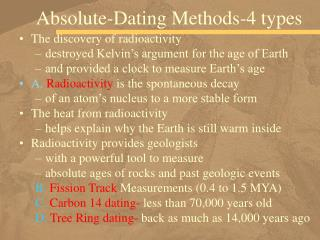 Absolute-Dating Methods-4 types