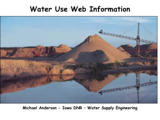 Water Use Web Information
