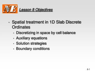 Lesson 8 Objectives