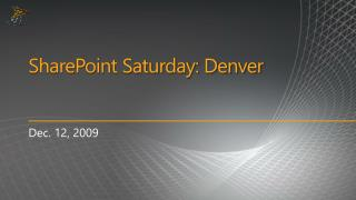 SharePoint Saturday: Denver