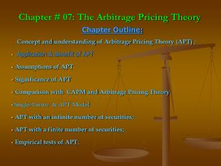 Chapter # 07: The Arbitrage Pricing Theory