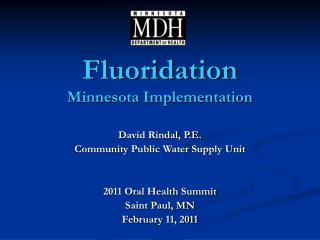 Fluoridation Minnesota Implementation