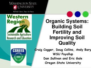 Organic Systems: Building Soil Fertility and Improving Soil Quality