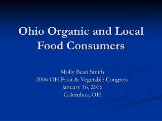Ohio Organic and Local Food Consumers