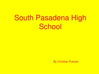 South Pasadena High School
