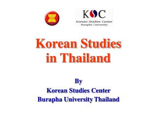 Korean Studies in Thailand