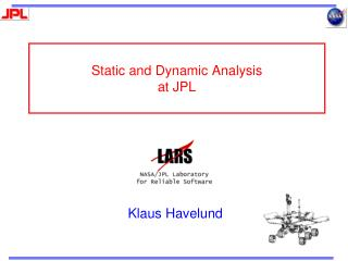 Static and Dynamic Analysis at JPL